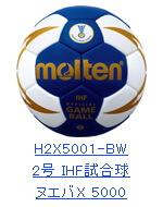 モルテン ハンドボール2号 H2X5001-BW