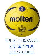 モルテン ハンドボール2号 H2X5001